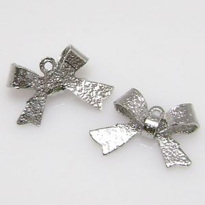 Beads, Silver plated, Silver colour, Irregular shape, 4mm x 10mm x 15mm, 5 Beads, (LJP049)